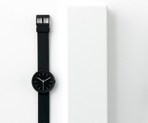 white, black, and watch image