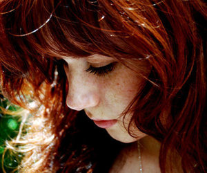 girl, redhead, and freckles image