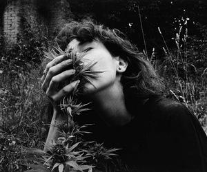 weed, girl, and photography image