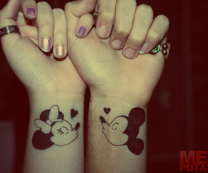kiss, mickey, and tattoo image
