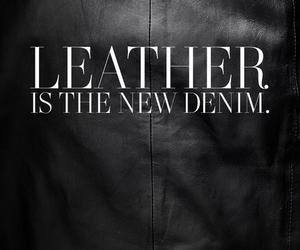 leather, fashion, and black image