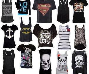 shirt, clothes, and emo image