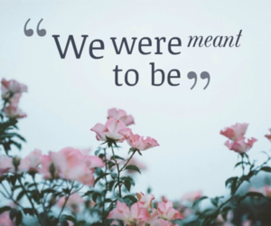 meant to be, together, and we were meant to be image