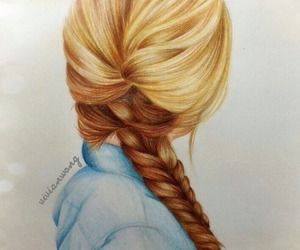 hair, drawing, and art image