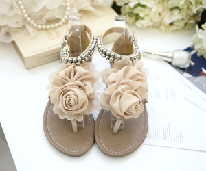 shoes, flowers, and sandals image