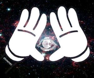 eye, galaxy, and gloves image