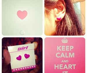 jewelry, keep calm, and pink image