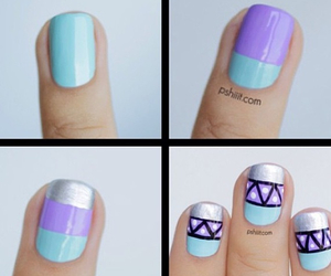 nails, purple, and tutorial image
