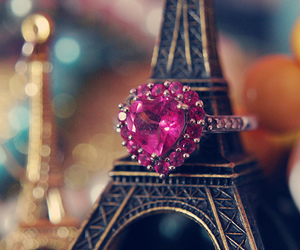 paris, ring, and pink image