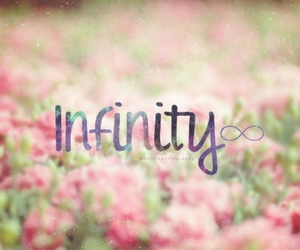 flowers, infinity, and pink image
