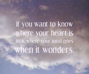 heart, sky, and text image
