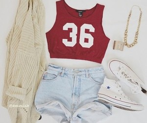 outfit, converse, and clothes image