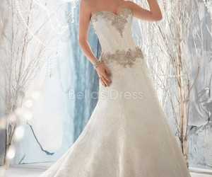 bridal gown, wedding, and wedding dress image