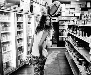 Erin Wasson, model, and black and white image