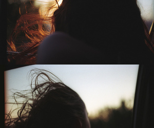 girl, wind, and hair image