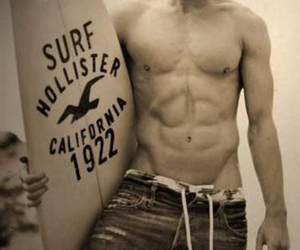 hollister, boy, and surf image