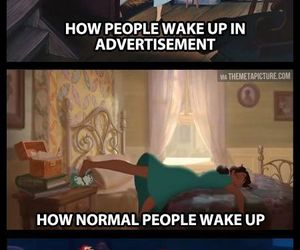 disney, funny, and wake up image