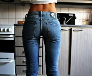awww, jeans, and butt image