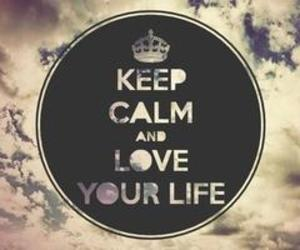 love, life, and keep calm image