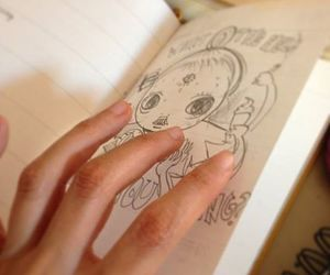 cute drawing, diary, and sketch image