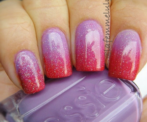 red, nails, and ombre image