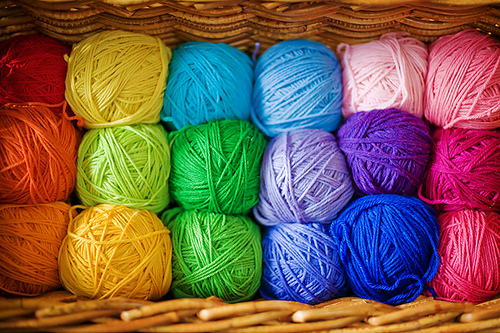 colorful and yarn image
