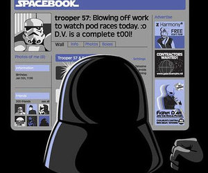 star wars, facebook, and funny image