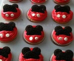 birthday, cupcakes, and mickey image