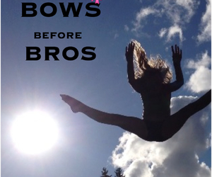 bows, cheerleading, and love image