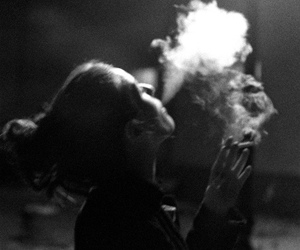 smoke girl tumblr image