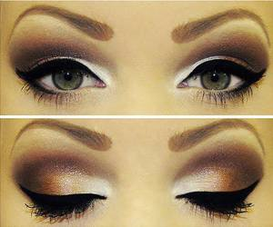 brown, colorfull, and make up image