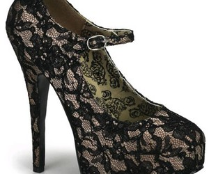 lace, pretty, and shoes image