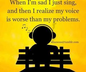 funny, sad, and sing image