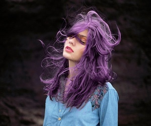 denim, pastel hair, and lila image