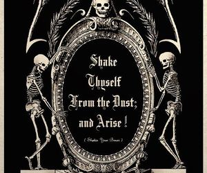 quotes, skeleton, and goth image