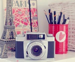 paris, camera, and photo image