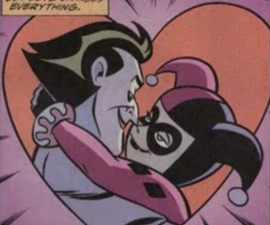 love, joker, and harley quinn image