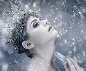 ice, snow, and snow queen image