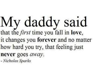 love, quotes, and daddy image