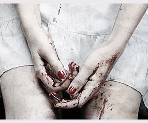 blood, hands, and horror image