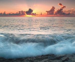 beach, sun, and beautiful image