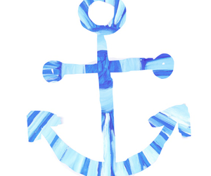 anchor, blue, and quote image
