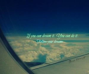 airplane, Flying, and dreams image