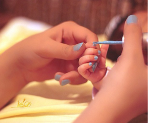 baby blue, blue, and nail image