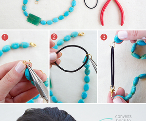 diy, headband, and necklace image