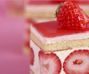 cake, forever, and strawberry image