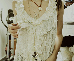 fashion, girl, and lace image
