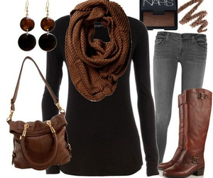bags, boots, and fashion image