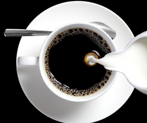 black, cream, and cup image