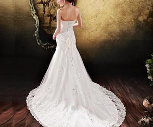 lace wedding dresses, fascination women dress, and generous dress buying image